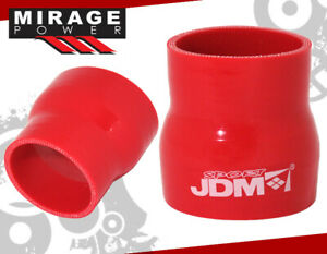 4 Ply Jdm S 2 To 2 5 Turbo Silicone Reducer Hose Pipe Reinforce Coupler Red