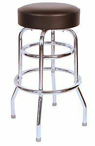 Chrome Swivel Bar Stools Vinyl Restaurant Barstools