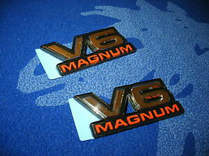Dodge Ram Dakota Durango Truck Van V6 Magnum Emblem Badge Decal Oem X2 New