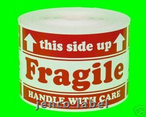 Ml23102 500 2x3 This Side Up Fragile Labels stickers