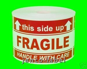 Ml23116 500 2x3 This Side Up Fragile Labels stickers