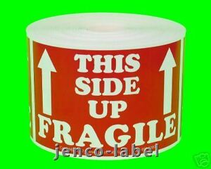 Ml23107 500 2x3 This Side Up Fragile Labels stickers