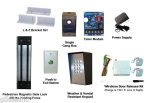 Pedestrian Gate Magnetic Lock Access Control Kit 400 Lb
