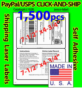 L102r 1 500 Paypal usps Click and ship Shipping Labels