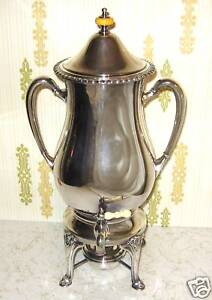 Antique Silverplate Coffee Warmer Server Friedman Sfco
