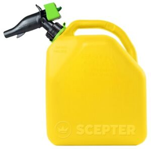 Case Of 4 Blitz 5 Gallon Plastic Diesel Fuel Can Jug