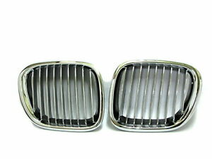 Z Series Z3 E36 1996 2002 Coupe Roadster 2d Grille Grill Chrome Black For Bmw