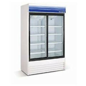 Norpole Swing Glass Two Door Refrigerator
