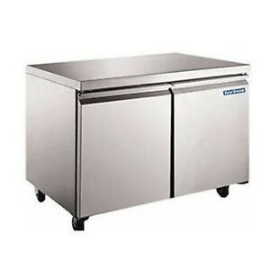 Norpole Stainless Under Counter Two Door Freezer Np2f 48uc