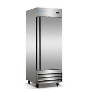 Norpole Stainless 1 Door Commercial Reach In Freezer Np1f