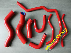 Fit Vw Golf Gti Mk 5 2 0 Fsi Tfsi Turbo Silicone Heater Hose Kit Red