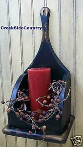 Primitive Candle Wall Box Sconce Any Color