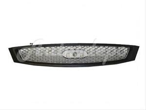 For 2005 2007 Ford Focus Grille Silver Grey W Black Frame Primed Smooth