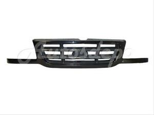 For 2001 2003 Ford Ranger Pickup Grille Black W argent Bar
