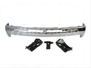 For 2000 06 Suburban Tahoe 99 02 Silverado Front Bumper Chrome Face Bar Bracket