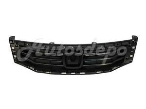 For 2008 2010 Honda Accord Sedan Grille Black Primed Black