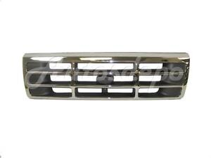 For 1992 1996 Ford F150 F250 F350 Pickup Bronco Grille Chrome New