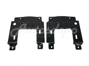 Bundle 2004 2005 Ford F150 Front Bumper Mounting Plate Set Lh Rh