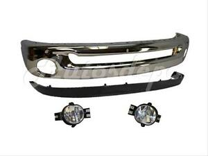 For 02 05 04 03 Dodge Ram Pickup Front Bumper Chrome Fog 4
