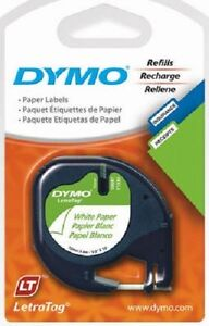 Sanford Dymo 6 Pack 1 2 X 13 Letratag White Label Maker Refill Paper