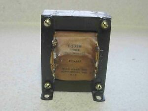 Nos Triad Power Transformer F 203u 115v To 12 5v