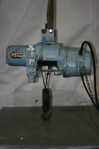 1 2 Ton Electric Cable Hoist W Trolley