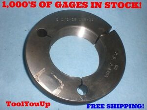 2 1 2 28 Uns 2a Thread Ring Gage Go Only P d 2 4755 Machine Shop Tooling Tool