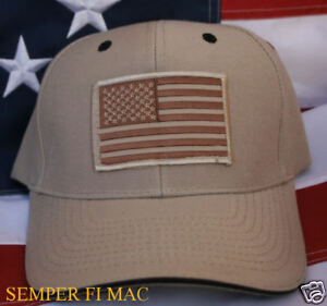 TACTICAL OD HAT IRAQ USA FLAG CAP DESERT 29 PALMS US MARINES PIN UP AFGHANISTAN $21.89