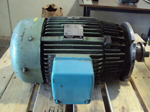 Westinghouse 20 Hp Ac Motor Frame 256tc Volts 230 460 3 Phase Arburg Injection