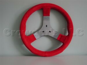 Personal Karting Steering Wheel Demon S 310 Mm Red Suede Leather Made In Italy