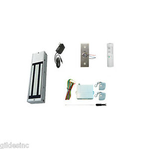 New Retail Store Single Door Magnetic Lock Access Kit W 1200 Lbs Hf Mag Lock