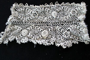 Antique Victorian Edwardian Hand Embroidered Lace Pcs