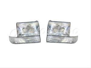 For 93 96 Jeep Grand Cherokee Headlight Signal Light Set 4p