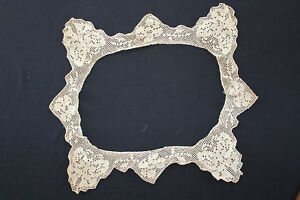 Antique Edwardian Lace Blouse Collar Trim Or Pillow Trim