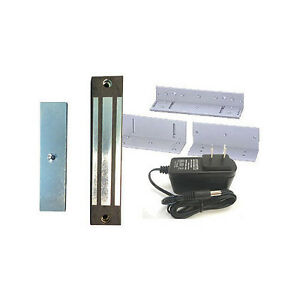 New Magnetic Lock Weather proof Pedestrian Gate Lock Kit W 400 Lb Hf M 400gs
