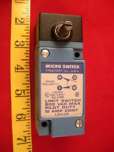 Honeywell Micro Switch Lsh3k Limit Microswitch 600 New