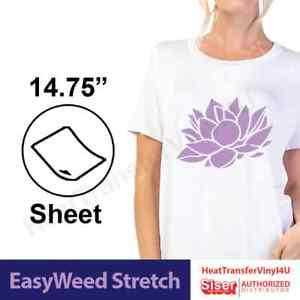 Siser Easyweed Stretch Iron On Heat Transfer Vinyl 15 X 12 3 Sheets