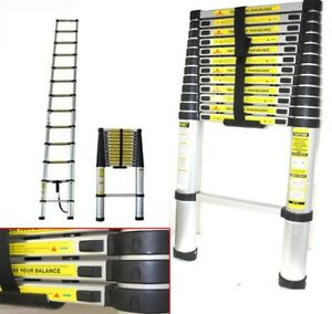 12 5 Ft Telescopic Aluminum Extension Ladder Max 300lbs Inspection Ladder
