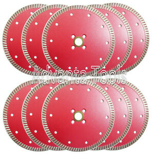 10pk 6 Premium Turbo Diamond Saw Blade For Granite Marble Stone