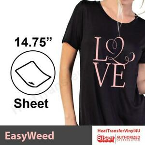 Siser Easyweed Heat Transfer Vinyl 15 X 1 Foot Select Your Colors