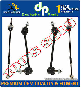 Jaguar S type Rear Sway Stabilizer Bar Torque Toe Tie Rod Links 1999 2002 Set 4