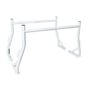 2 Bar Set Pickup Truck Rack Steel 800lb Construction Lumber Kayak Rack White