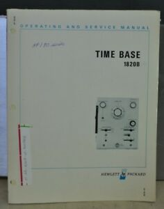 Hp 1820b Time Base Operating Service Manual