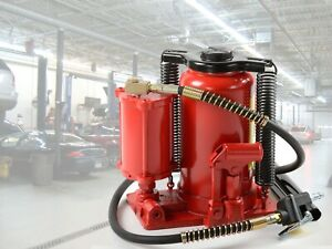 20 Ton Air Hydraulic Bottle Jack Automotive Shop Lift Tools Hd Jacks