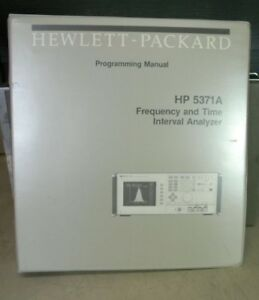 Hp 5371a Frequency Time Interval Analyzer Progamming Manual