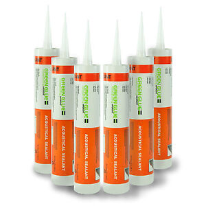 Green Glue Acoustical Sealant Caulk Half Case 6 Tubes
