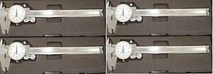 4pc Brand New 0 6 Stainlees Steel Dial Caliper
