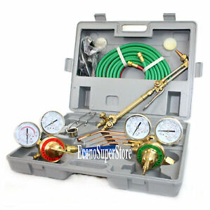 Ul Oxygen Acetylene Victor Type Welding Cutting Kit Torch Regulator Gauge