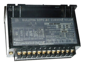 Allen Bradley 809s ab100a1 Ac Current Relay 7 5 Amp 120 V Series A