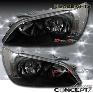 2001 2002 2003 2004 2005 Lexus Is300 Black Style Headlights Hid Xenon Model Only